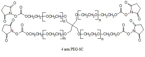 Laysan 四臂聚乙二醇SC酯 4 arm PEG-Succinimidyl Carbonate (4arm-PEG-SC)